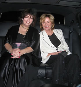 Heather & Me in the limo